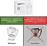 AmazonBasics Water Filter Cartridges - 6 Pack - Fits BRITA Classic® Jugs