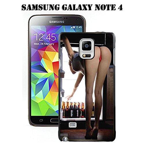 Note 4Fall Samsung Galaxy Note 4Schwarz Cover TPU Gummi Gel-Retro Rose Totenkopf, A00-37 -