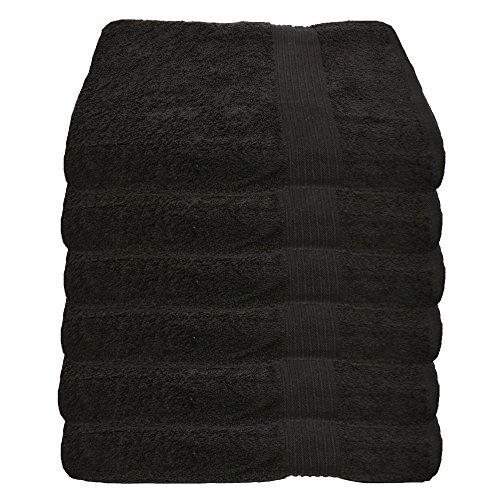 6er Pack Handtuch Julie Julsen in 29 Farben erhältlich weich und saugstark 500gsm Öko Tex Schwarz 50 x 100 cm B-Ware