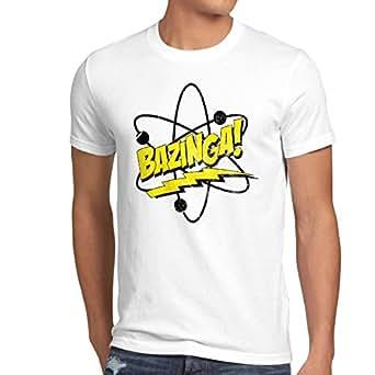 CottonCloud Sheldon Atomo T-shirt da uomo, Dimensione:S;Colore:bianco