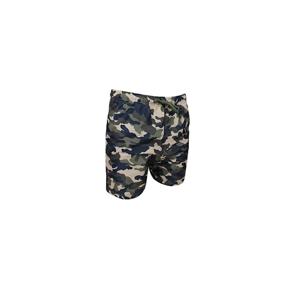 957cc398ac AK collezioni Costume Mare Uomo Mimetico Verde Militare Pantaloncino Boxer  Slim Fit Shorts Pantalone Bermuda - Face Shop