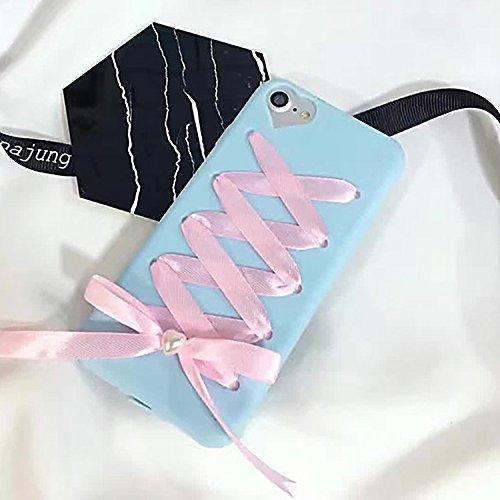 Pour iPhone 6 Plus / 6s Plus, 3D Bowknot Ribbon Bandage Housse de protection arrière JING ( Color : Pink ) Blue