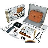 Kit/Set/Coffret d'entretien et de soin pour barbe et rasage. 10 Accessoires  BARBER TOOLS