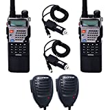 Best Baofeng Car Speakers - 2pcs Baofeng UV-5RE8W 1/4/8Watt Tri-Antenna(Dual Band/VHF/UHF) 3800mAh Extended Review