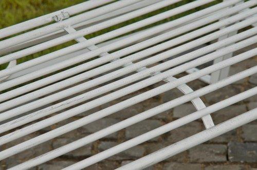 CLP 2 Sitzer / 3 Sitzer Garten Hollywoodschaukel AIMEE, Landhaus-Stil, Metall (Eisen) antik-weiß - 8