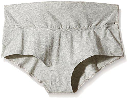 Noppies Damen Umstandsunterhose Shorts Basic 90001, Umstandsunterhose, Gr. 42 (Herstellergröße: XL), Grau (Grey 03)