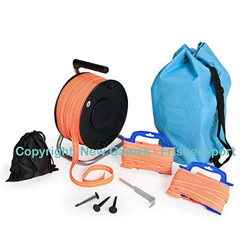 Ultimate Frisbee Mobile Spielfeldmarkierung, Spielfeld-to-Go Markierband Orange
