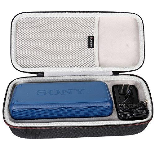 Galleria fotografica LTGEM Custodia rigida EVA Trasporto Borsa da Viaggio di Archiviazione per Sony SRS-XB3 Bluetooth Speaker Portatile Senza fili.Adatto Cavo USB e Caricabatterie da Muro