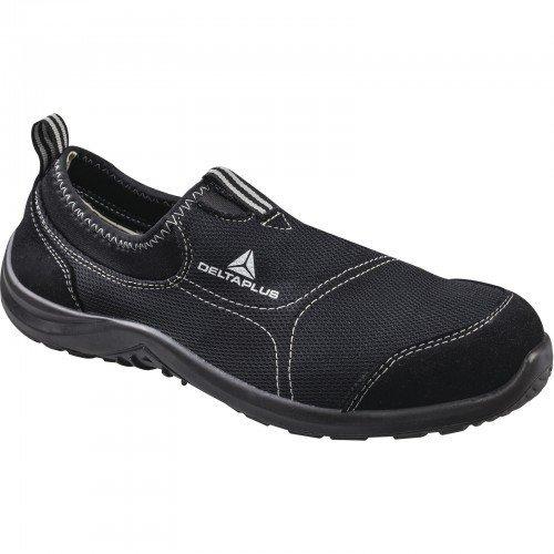 Deltaplus 3295249198855 Delta Plus Panoply Miami S1P black canvas non-slip on steel toe safety trainers sneakers, Schwarz, 9 UK Steel Toe 9