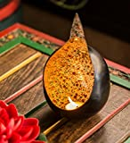 #4: Collectible India Iron Bird Nest Shaped Tealight Candle Holder Decorative Table Top Stand T-Light Candles Home Living Room Bedroom Decor Lights