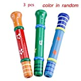 Sealive Sealive 3 pcs Colorful Musical Instrument Baby Kids Wooden Toy Cute Small Piccolo Flute Early Education Toy Gift Set(Two SamplesSent in Random)