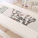 ASIBG Home Pflaume, Orchidee, Bambus und Chrysantheme Kaffee Gordon w. Shea Baumwolle Tischläufer der Chinesischen Bettwäsche China stil Kaffee Tischdecke Tischläufer, Tischläufer - MUI, 30 * 160 cm