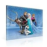 Disney Frozen Eiskönigin Elsa Anna Olaf Leinwand Bilder (PPD740O2FW) - Wallsticker Warehouse - Size O2 - 80cm x 80cm - 230g/m2 Canvas - 1 Piece