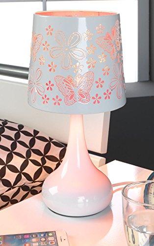 Nachttischlampe Tischleuchte Tischlampe | Metall | Rosa | Touch | ohne Leuchtmittel
