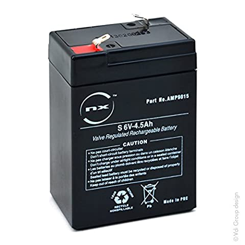 NX - Batterie plomb AGM S 6V-4.5Ah 6V 4.5Ah T1 - Unité(s)