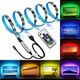 Opard Led Strips Lights 2M(4pcs x 50cm) Wireless Remote Controlled TV Backlights USB Powered Lighting Strip Lights With 20 Colors & 22 Light Modes for 40 to 60 Inch Television