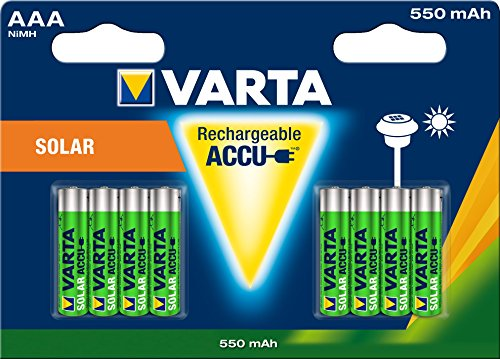 Varta 56733101408 - Batería recargable Ni-MH(AAA, 550 mAh, 8 unidades)