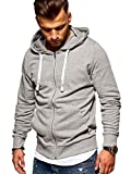 JACK & JONES Herren Sweatjacke Hoodie (X-Large, Light Grey Melange)