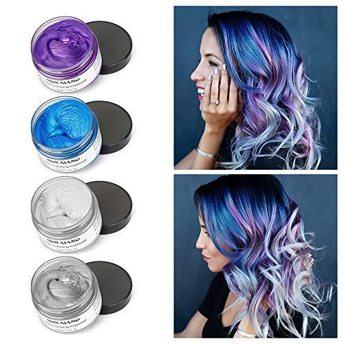 4 Farbiges Haarwachs, MOFAJANG Haarfarbe Wachs, temporäre Frisur -