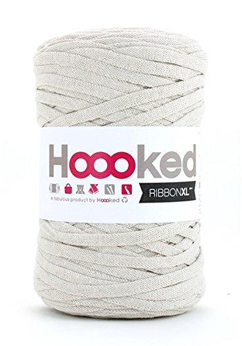Trapillo pluma Ribbon XL de Hoooked sandy ecru