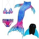 Das beste Mädchen Bikini Badeanzüge Schönere Meerjungfrauenschwanz Zum Schwimmen mit Meerjungfrau Flosse Schwimmen Kostüm Schwanzflosse - Ein Mädchentraum- Gr. 140, Farbe: A09(2)