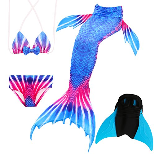 Das beste Mädchen Bikini Badeanzüge Schönere Meerjungfrauenschwanz Zum Schwimmen mit Meerjungfrau Flosse Schwimmen Kostüm Schwanzflosse - Ein Mädchentraum- Gr. 150, Farbe: A09(2)