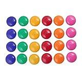 Runde Magnet-Aufkleber, bunte runde Abdeckung, Kühlschrank-Magnetknöpfe, 12 Stück, zufällige Farbe