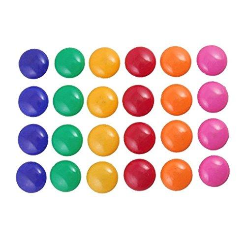 Magnete Haftmagnete für Whiteboard, Kühlschrank, Magnettafel, Magnetwand, Farblich Sortiert,12 Stück Zufällige Farbe -