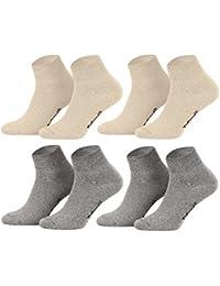 Tobeni 8 paires de chaussettes trimestre Chaussettes courtes sans caoutchouc pour hommes et femmes - chaussettes en dentelle brut ou colore