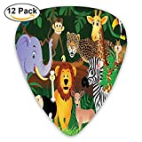 Animals In The Jungle Funny Expressions Exotic Comic Cheer Natural Habitat Guitar Picks 12/Pack