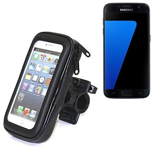 Fahrradhalterung für Samsung Galaxy S7, Handyhalterung Lenkstange Fahrrad Halter Motorrad Bike mount Smartphone Halter Wasserabweisend, regensicher, spritzwasserdicht
