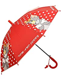 Clasiko Tom & Jerry Print Kids Umbrella; Light Weight; Attractive Design; Durable