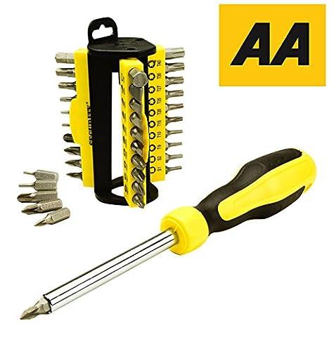 AA Auto-Essentials-31 Stück Schraubendreher Zubehör-Bit gesetzt