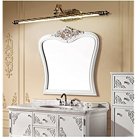 LLHZ-LED-stile, ottone massiccio, regolabile lampada a specchio,