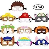 WENTS Paw Dog Masken Patrol Spielzeug Puppy Party Masken Geburtstag Cosplay Charakter Party Favors Supplies für Kinder 10PCS