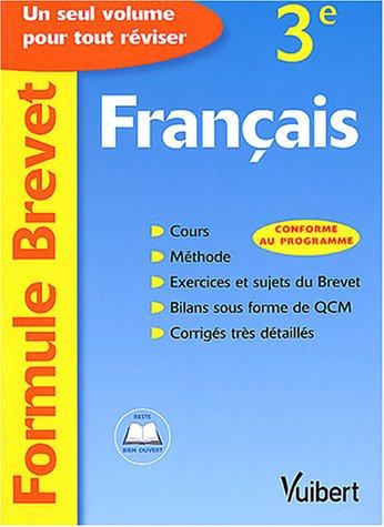 Formule Brevet : Français, 3e