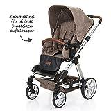 ABC Design Kombi-Kinderwagen Set Turbo 4 – inkl. 3in1 Tragewanne für Neugeborene, Liegefunktion, ausklappbarem Sonnenverdeck, Schieber höhenverstellbar, Sitz drehbar, große Räder – Bean - 3