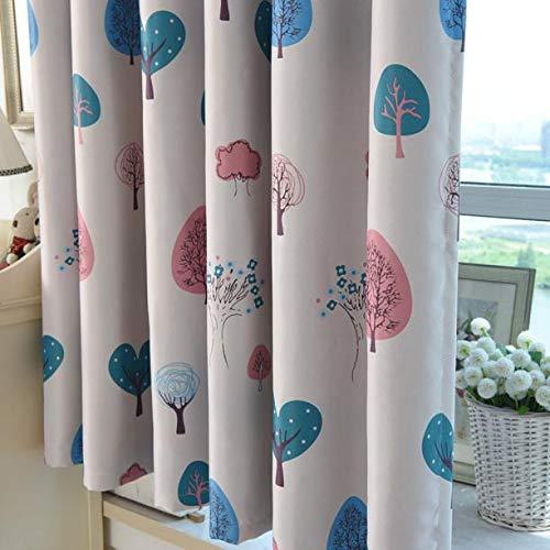 Syeytx Love Tree Print Shading Vorhang Türfenstervorhang Drapieren Panel Schabracken für Wohnzimmer Schlafzimmer dekorativ (hoch: 1x2m) (Print-panel Vorhänge)