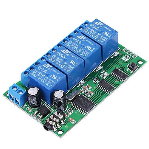 Signal Decoder Relais, AD22B04 12V 4 Kanal DTMF Ton Signal Decoder Relais Telefon Fernbedienung SPS Dtmf Tone Decoder
