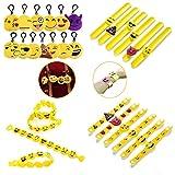 Zcoins Emoji Kit Jouet Emoji Porte Clef Slap Bracelets Anniversaire Enfant Pinata Cadeau...