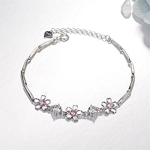 BinSanda Schönes Geschenk Mode Exquisite Luxus Rosa Kirschblüten Armband Frauen Armband