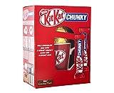 nestle KitKat CHUNKY Milk Chocolate egg with kitKat Chunky Bars and A kitKat Mug 180g 6 pack