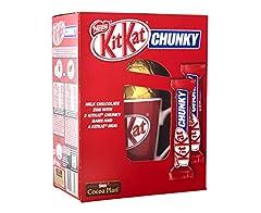 Idea Regalo - Nestle KitKat CHUNKY al latte uovo di cioccolato con KitKat Bar grosso e un KitKat tazza 180g