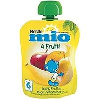 Mio Frutta con Vitamina C, 4 Frutti senza Glutine, per Bambini da 6 Mesi - 90 ml