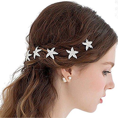Kristall Strass Haarnadel Blume Haarspange Haarklammer Haarschmuck Hairpins Neu