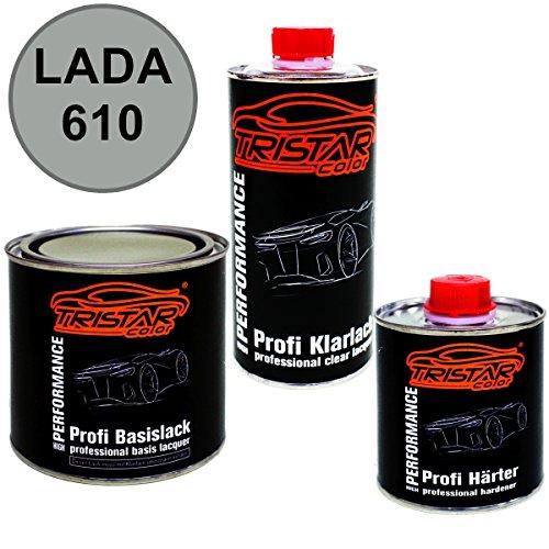 Preisvergleich Produktbild 1,25 Liter 2K Lack Set LADA 610 RISLING M. / RIESLING M. ab 2006 - Profi Autolack spritzfertig & Klarlack & Härter