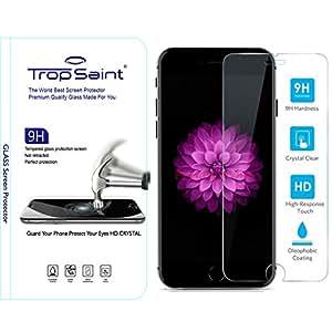 """Protecteur d'écran en Verre Trempé pour iPhone 6 et 6S (4,7)"""" Trop Saint® (0,4mm) Film Transparent Invisible Ultra-Clair Haute Qualité Ultra Résistant INRAYABLE Tempered Glass Screen Shield"""
