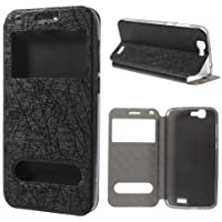 Flip Case Handy-Hülle Etui Business Case Cover schwarz Huawei Ascend G7