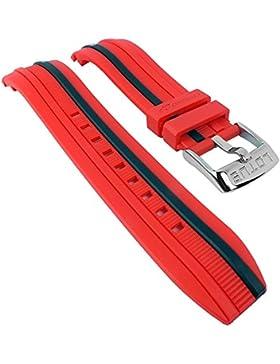 Lotus Ersatzband Uhrenarmband schwarz aus Kunststoff für Marc Marquez Armbanduhr L15881, Farbe:rot/schwarz