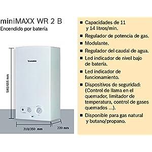 Junkers MiniMaxx WR 11 2KB – Calentador, 11 litros, Blanco